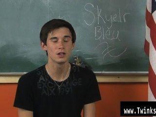 Sexy gay nos embarcamos para escuchar de donde es skyelr bleu y lo que él