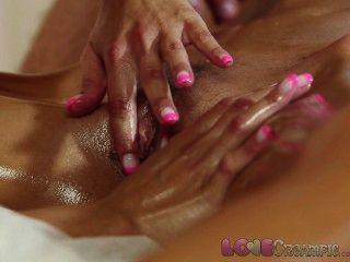 Amor creampie chica joven se cum dentro de masaje graso threesome