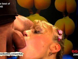 El meli del amante del esperma está detrás para una acción más dura del bukkake!
