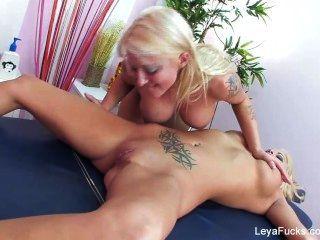 Leya falcon lesbian massage