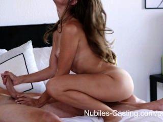 Nubiles casting minúsculo tit babe intenta por sexo hardcore porno