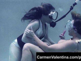 Freaky puta carmen valentina submarino coño lamiendo!