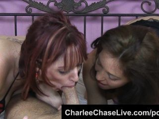 Charlee chase double teams una polla grande con la pelirroja pelirroja!