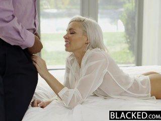 Blacked preppy blonde novia kacey jordan trucos con bbc