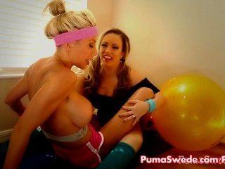 Puma \u0026 carmen lesbianas pornstar trabajo fuera