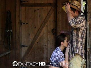 Hd fantasyhd vaquera dani daniels paseos dick en la granja