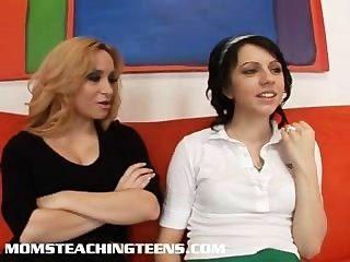 Milf enseñar a la puta adolescente sexo hardcore