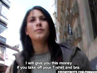 Calles checas veronika golpes dick por dinero en efectivo