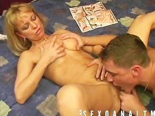 Madura rubia le gusta beying jodido por su chico