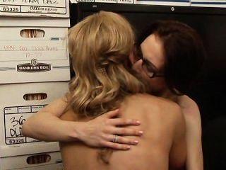 Tanya tate \u0026 aiden ashley escena 1 lesbiana oficina seducciones 5