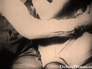 Auténtico porno de los años 1940 rubia obtiene follada