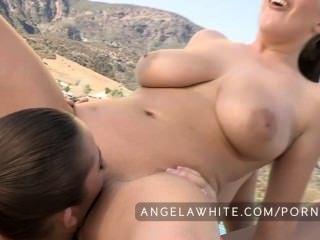 Angela blanca y dani daniels follando afuera