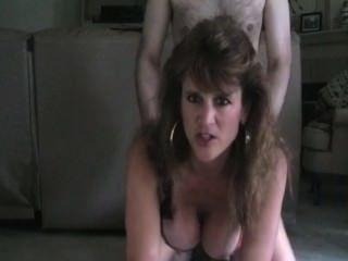 Hot mamá milf doggy estilo de fumar sexo