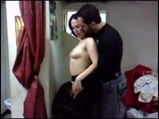 Árabe caliente y encantadora pareja