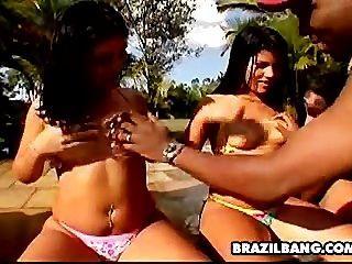 Bbw brasileña orgía porno