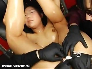 Extremo fetiche japonés y esclavitud sexo