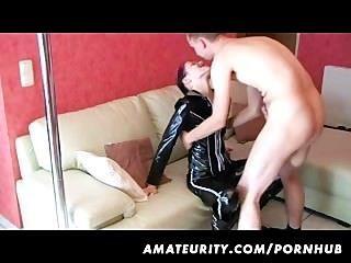 Aficionado novia casa lapdance con suckl y mierda y corrida