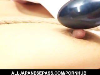 Obligado puma japonés es jugado y jodido en el culo