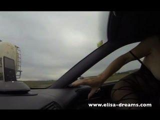 Intermitente y sexo anal en la carretera