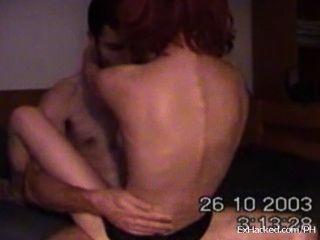 Realmente caliente novia monta a su novio en la webcam