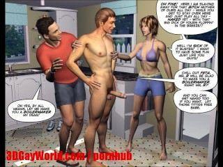 Maridos desesperados 3d bisexual mmf dibujos animados cómics animados o hentai toons