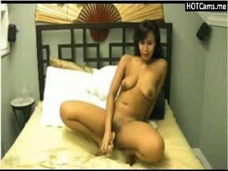 Caliente busty asiática milf toying \u0026 cumming