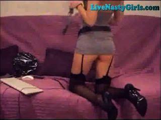 Caliente sumisa rubia webcam show parte 1