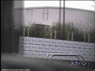 Dos pares peeping dentro del coche