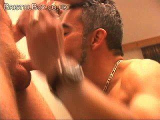 Erótico, striptease, stud, solo, músculo, masturbación, eyaculaciones