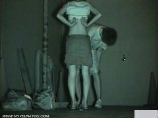 Cámara infrarroja voyeur sexo público