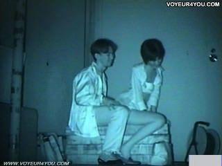 Cámara infrarroja voyeur banco parque sexo