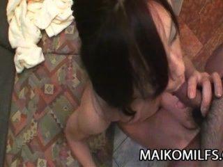 Mika fukuyama japanese milf coño estirado y creampied