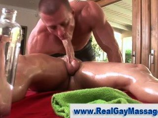 Gay masseur straighty cock sucking