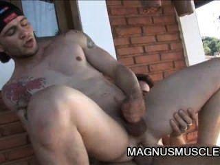 Arcanjo amaro y felix stulbach impresionante sesión fuck anal al aire libre