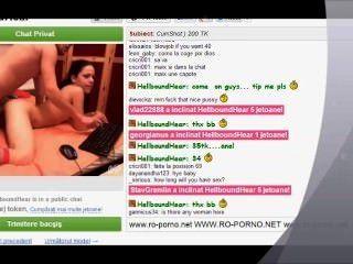 Sexo anal con una pareja en el videochat