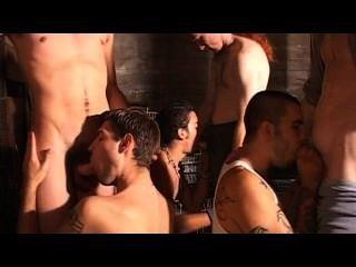 Gay escena 1 de la cena del bukkake