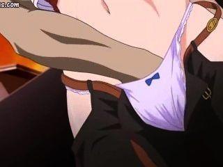 Hentai se frota y jode por feo tio