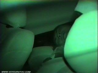 Coche sexo tomado por una cámara de infrarrojos