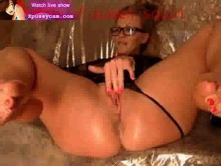 Sexy rubia masturbándose