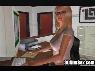 3d sim sexo lesbianas