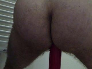 Mi nuevo didlo ... rojo grande en el culo