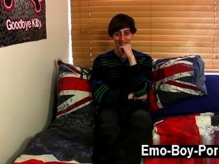 Gay porno, skinny, emo, compañero, ethan, noche, es, en realidad,