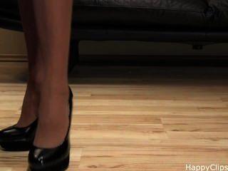 Tacones altos zapatos pasos