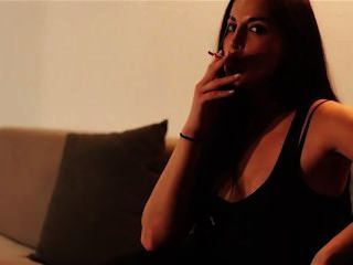 Sexy girl smoking fetish