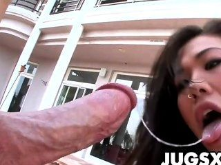 Asian babe london keyes obtener anal