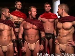 Gladiadores calientes en 4 hardcore fuck