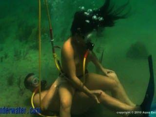 submarino.Las islas del océano