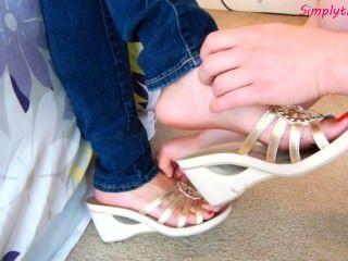 Laura nuevo slipoff zapatos cosquillas
