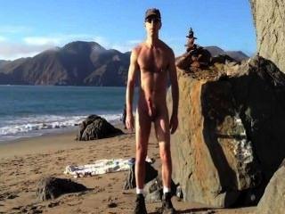 Playa wank exposición squirt