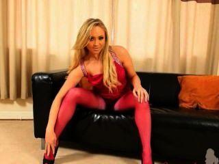 Nylon y pantyhose rosa es mi vida sexual